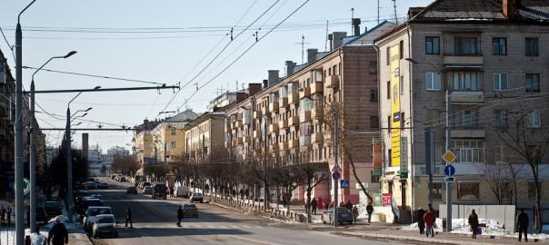 Проспект Ленина с дамбы
