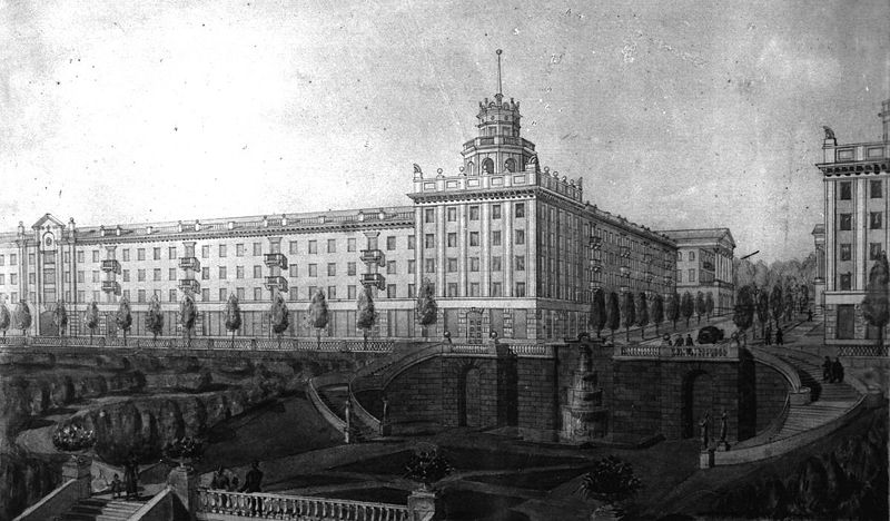 Проект реконструкции бульвара Гагарина в 1950-х
